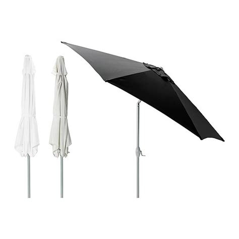 Ikea Patio Umbrella Ikea Large 3 0m Parasol Patio Garden Umbrella Tilt Crank White Beige Grey Ebay