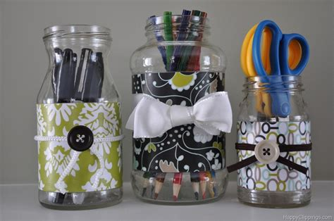 How To Decorate Glass Jars by Repurposed Glass Jars With Decorative Paper