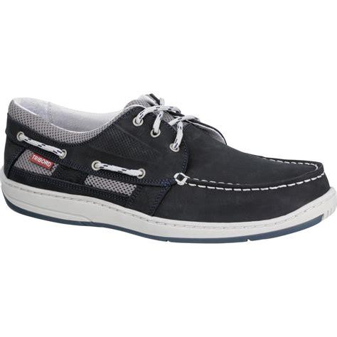 chaussures bateau cuir homme clipper bleu marine tribordvoile