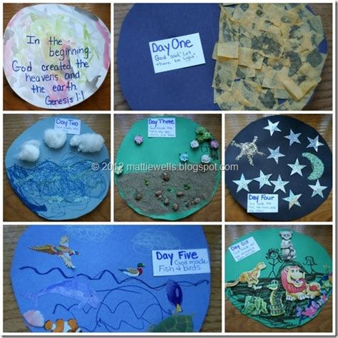 bible craft projects creation crafts and projects for kindergarten creation