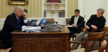 Trump Oval Office Desk by Trump Orders Isis Plan Talks With Putin And Gives Bannon