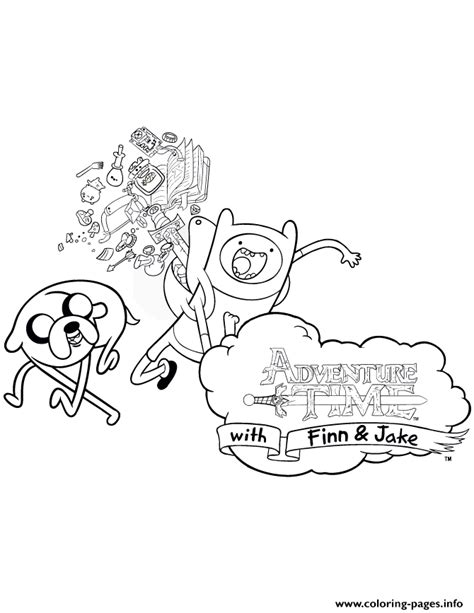 finn and jake adventure time coloring pages printable