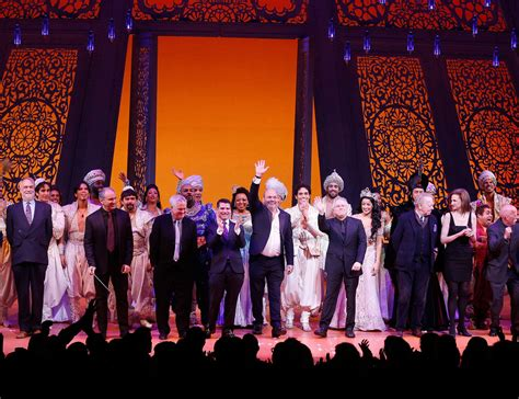 broadway curtain call casey nicholaw in aladdin opening night and curtain call