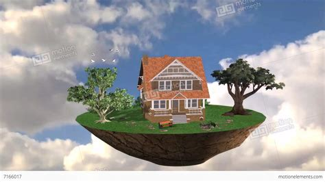 flying house flying house live environment for promotion property financial loan bank stock video
