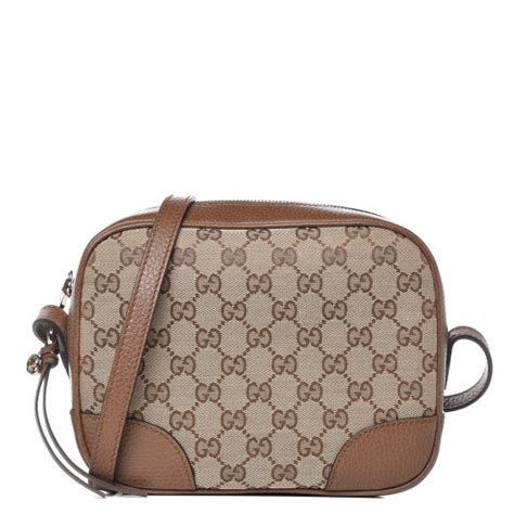 gucci monogram mini bree messenger bag brown