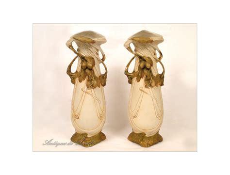 Royal Dux Bohemia Vase by Pair Of Royal Dux Porcelain Vase Nouveau Bohemia Nineteenth