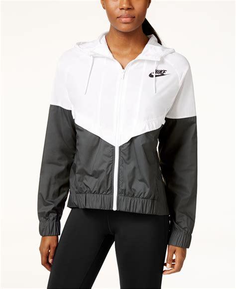 Bench Jackets Women Nike Wind Runner Colorblocked Jacket In Gray Lyst