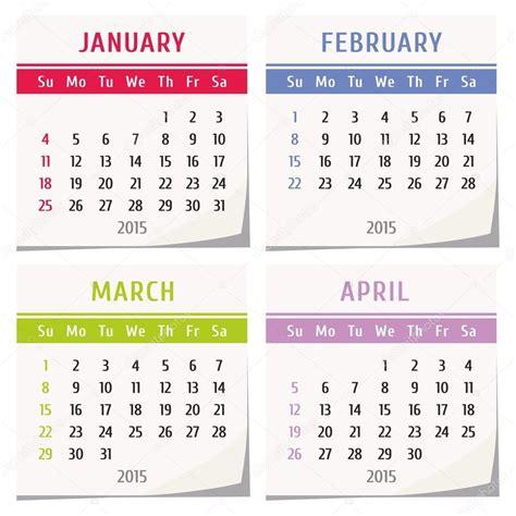 Calendar 2015 February March April December 2015 Calendar Two Page Calendar Template 2016