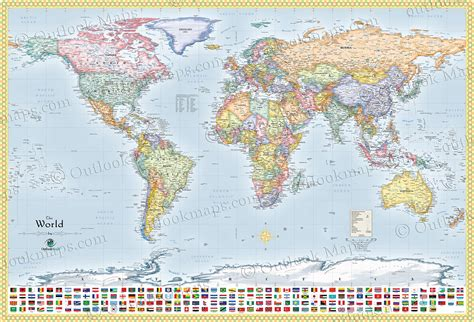 political world map  flags  countries lots