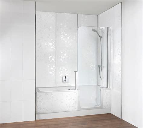 duschwand für badewanne glas dekor badewannen spritzschutz