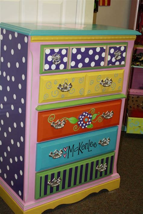 colorful dressers 17 ideas about girl dresser on pinterest pink dresser