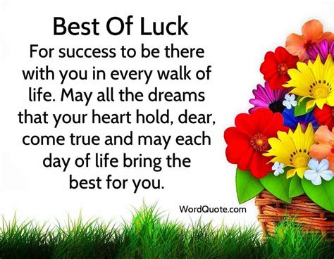 best wishes words luck quotes and wishes meditations luck