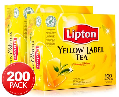 Teh Lipton Yellow Label 2 x lipton yellow label teabags 100pk great daily deals at australia s favourite superstore