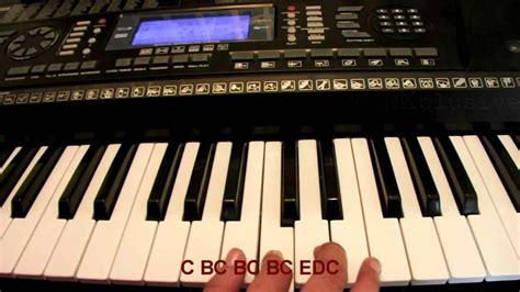 tutorial playing keyboard piano keys notes songs frechel info