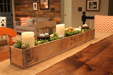 Centerpiece Box Made Of Rustic Reclaimed Wood Planter Box Rustic Wood Centerpiece