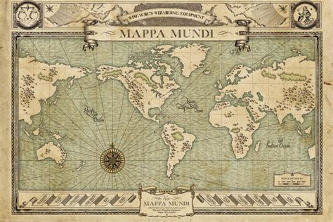 Do If I Search Them On Fantastic Beasts And Where To Find Them Map Poster Sold At Europosters