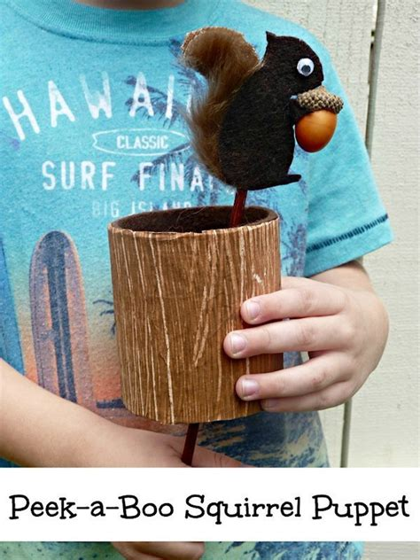 peek  boo squirrel puppet lesson plans