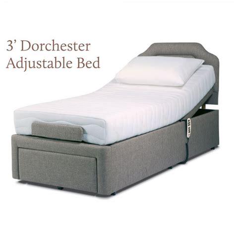 dual adjustable bed sherborne dorchester single electric dual motor adjustable