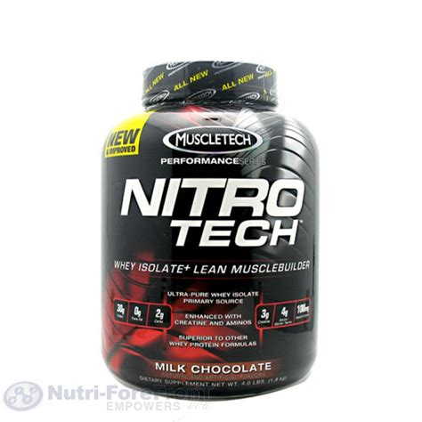 Whey Protein Nitro Tech muscletech nitro tech 4lb whey protein isolate protein