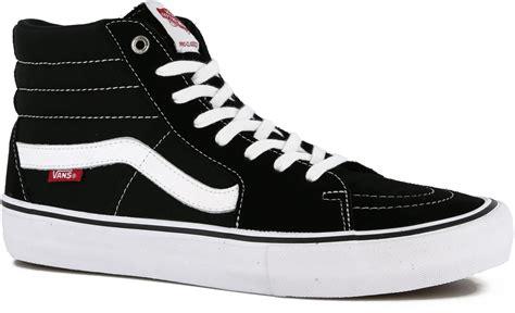 sk8 shoes vans sk8 hi pro skate shoes black white free shipping