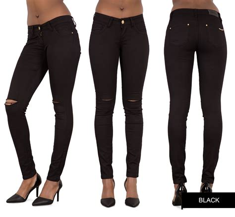 Ripped Jegging Ripped Jegging Ripped ripped knee womens high waisted jegging 6 8 10 12 14 ebay
