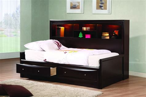 day beds for kids phoenix cappuccino wood kids bookcase full daybed with