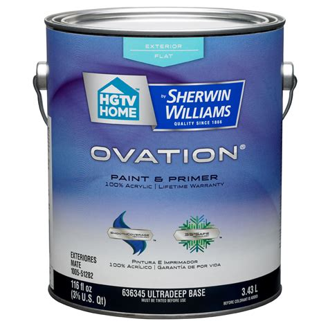 shop hgtv home by sherwin williams ovation tintable flat exterior paint actual net