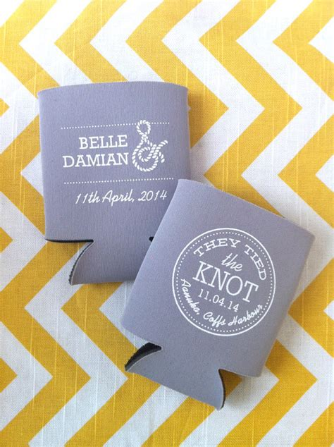 Wedding Wishes Nautical by The Knot Nautical Wedding Koozies By Rookdesignco On