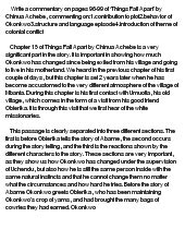 Critical Essays On Chinua Achebe by Critical Comments On Things Fall Apart Novel By Chinua