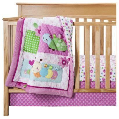 taggies 3pc sweet as a bug crib bedding set stuff