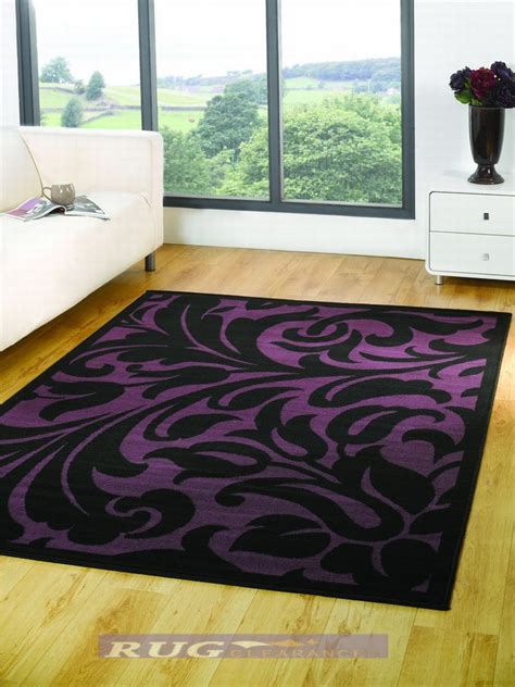purple and black rug large modern warwick black purple woven rug 120x160cm ebay
