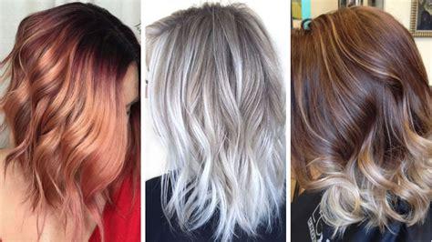 balayage haarfarben fuer sommer frisuren  long bob