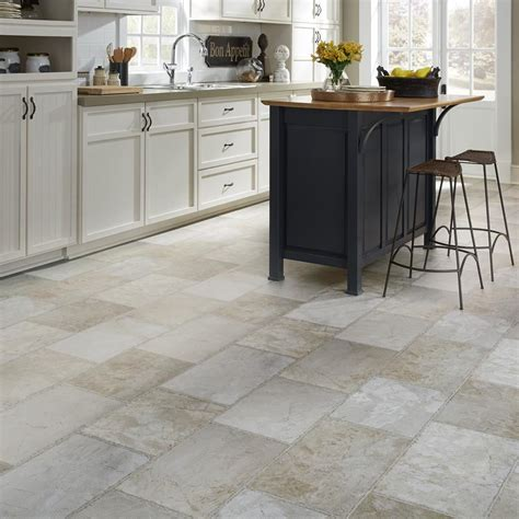kitchen carpet ideas resilient vinyl floor upscale rectangular large scale travertine mannington