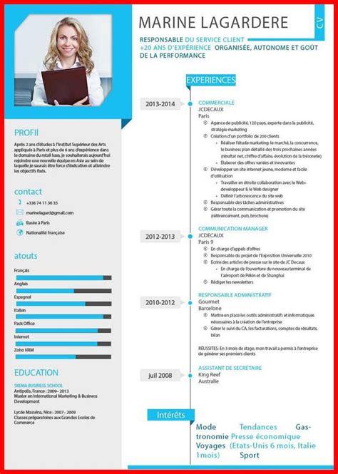 Template Gratuit Cv by Template Cv Moderne Gratuit Mod 232 Le De Lettre Gratuite