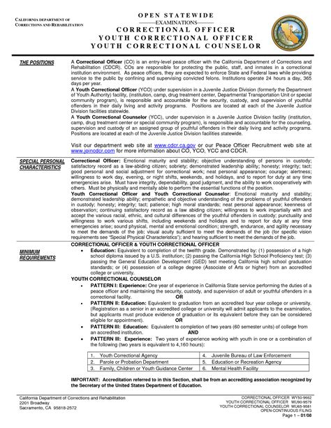 correctional officer resume sle correctional officer resume 28 images