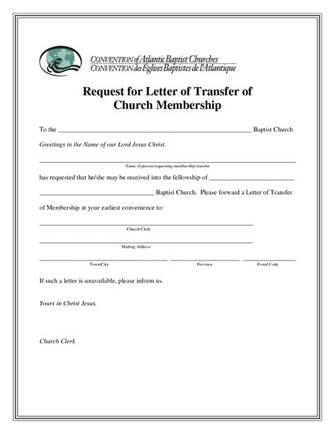 Transfer Verification Letter Best Photos Of Letter Of Transfer Church Church Membership Transfer Letter Sle Church