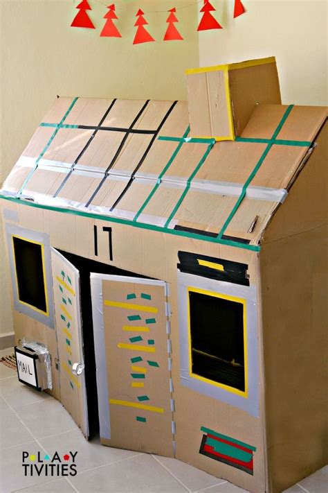 How To Make A Box Out Of Construction Paper - how to build the most simple cardboard house from just 1