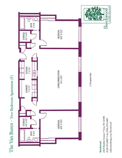 senior housing floor plans floor plans for beechwood senior apartments 1 and 2