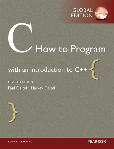 pearson education c how to program global edition