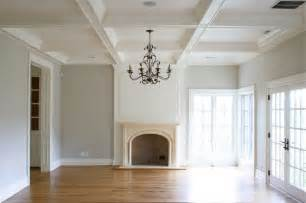 coffered walls coffered ceiling transitional living room tiek built