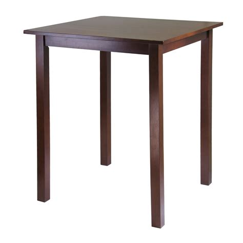 Square Bar Table Winsome Wood 94134 Parkland Square Pub Table Antique Walnut Atg Stores