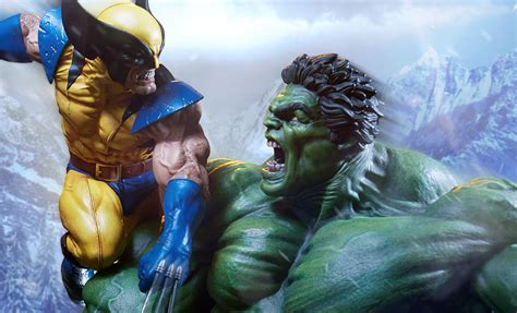 imágenes de wolverine vs hulk marvel hulk and wolverine maquette by sideshow