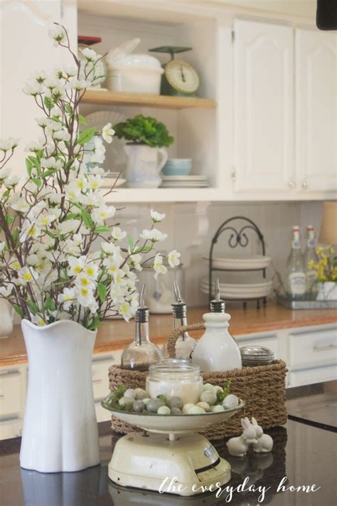 Kitchen Counter Canisters Farmhouse Style Easter Decor Ideas