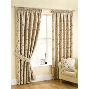 Floral Lined Curtains Isla Floral Lined Curtains Ready Made Top Curtain Pairs 46 X 54