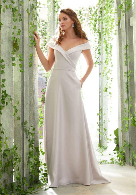 chiffon bridesmaids dress with spaghetti straps style