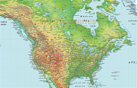 usa relief map digital vector america medium relief map in