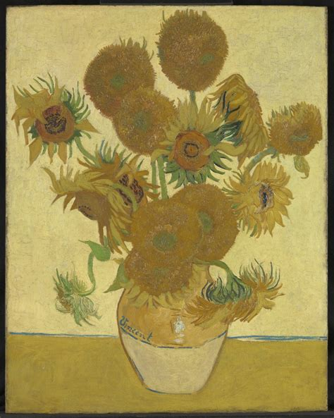 sunflowers at the national gallery two of van gogh s paintings side by side