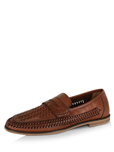 buy mens loafers india buy new look woven loafers for s brown loafers