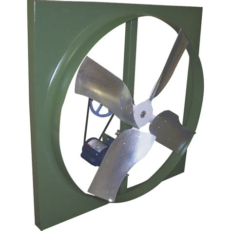 belt drive wall exhaust fan canarm belt drive wall exhaust fan 42in 3 4 hp 14 800