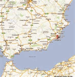 Google Map Spain by Cartagena Portugal North Africa Amp Spain